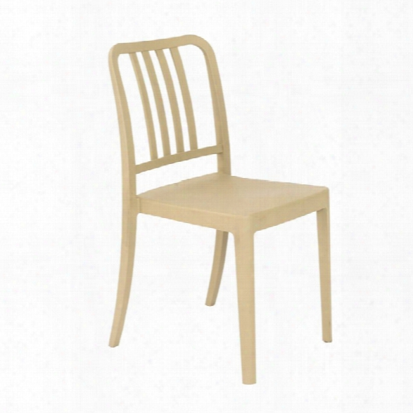 Eurostyle Halliday Stacking Chair In Taupe (set Of 4)