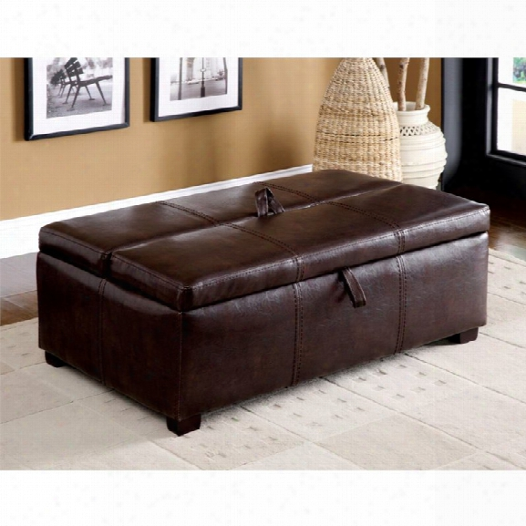 Furniture Of America Clausen Ottoman With Pullout Bed In Brown