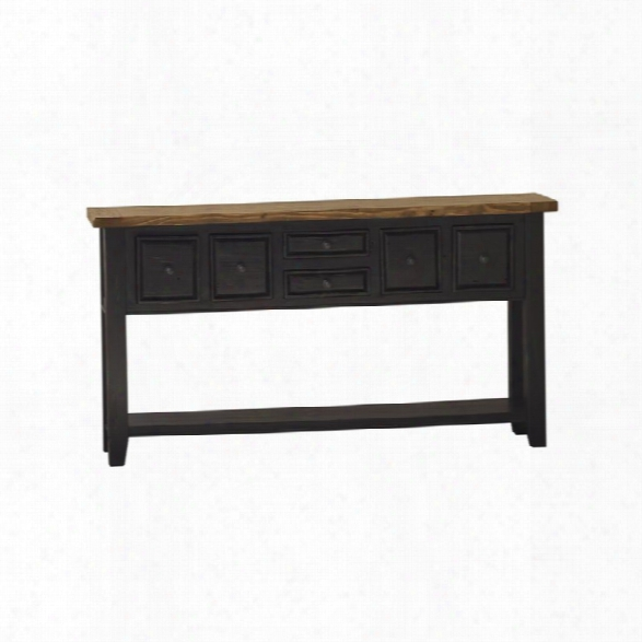 Hillsdale Tuscan Retreat 6 Drawer Console Table In Black