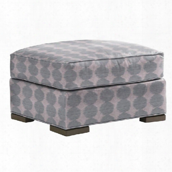 Lexington Shadow Play Delshire Ottoman In Geometric Blue Aqua