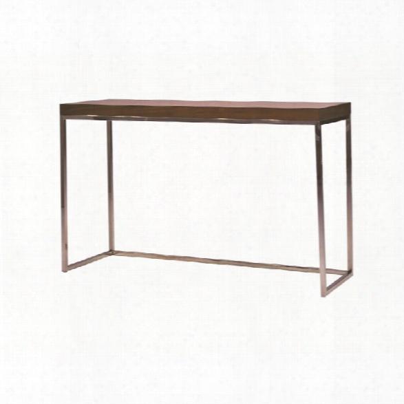 Mobital Kubo Sofa Table In Natural Walnut