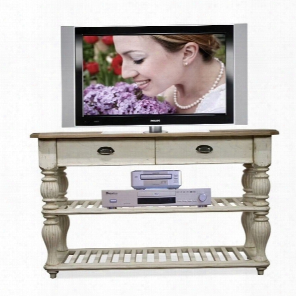 Riverside Furniture Coventry Two Tone Console Table In Dover White