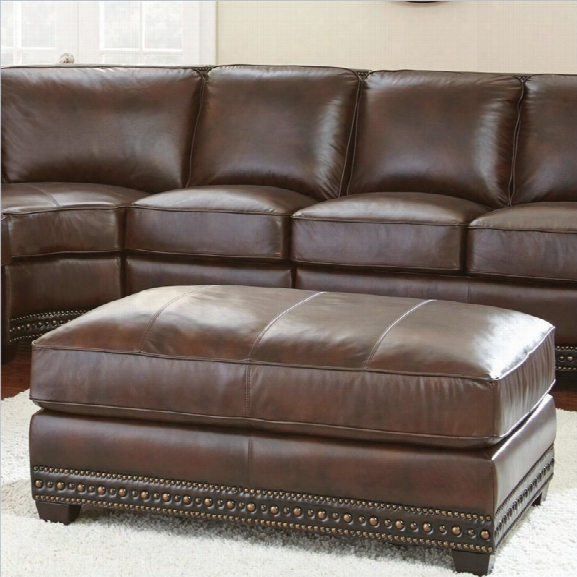 Steve Silver Company Henry Ottoman In Antique Brown