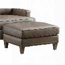 Tommy Bahama Cypress Point Hughes Leather Ottoman in Gray