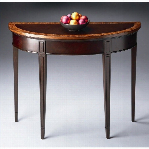 Butler Specialty Demilune Console Table In Cherry Nouveau Finish