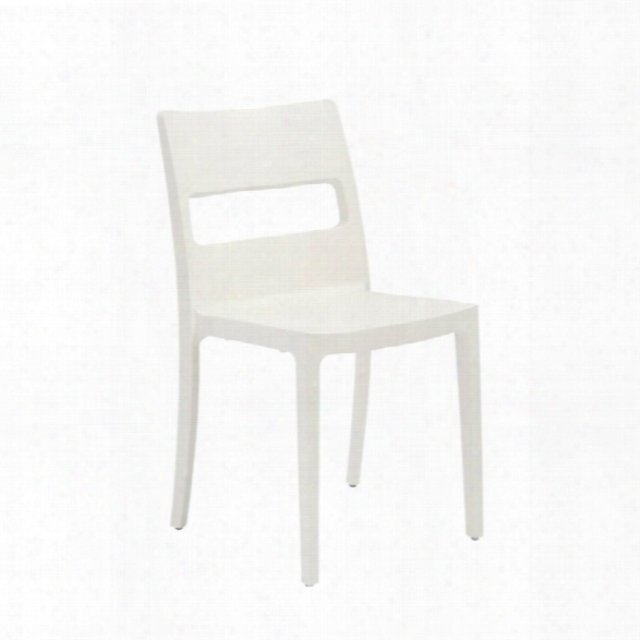 Eurostyle Sai Stacking Chair In Linen (set Of 6)