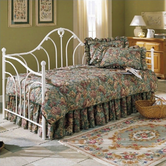 Fashion Bed Emma Daybed With Euro Deck In Antique White