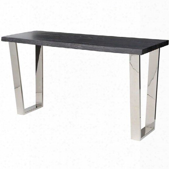 Nuevo Versailles Console Table In Oxidized Gray