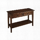 A-America Westlake 2 Drawer Console Table in Cherry Brown