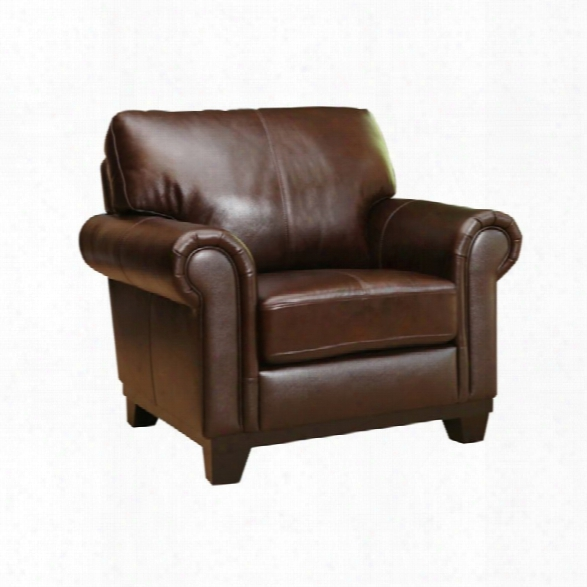 Abbyson Living Lyla Leather Armchair In Brown