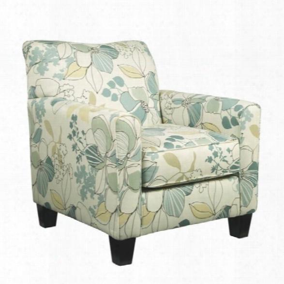 Ashley Daystar Fabric Accent Chair In Seafoam