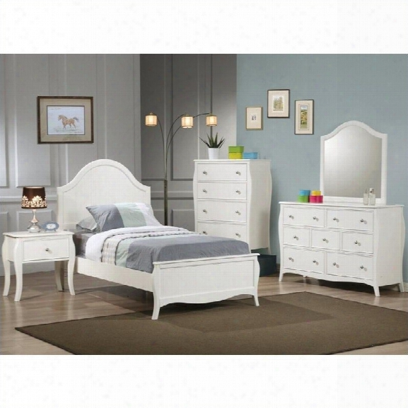 Coaster Dominique 3 Piece Bedroom Set In White Finish