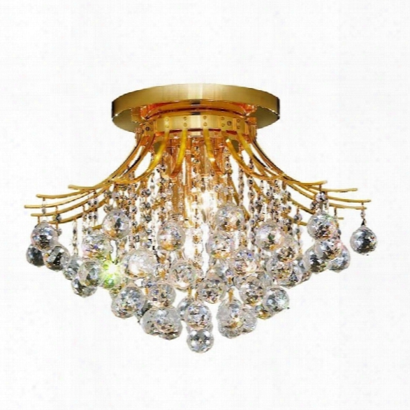 Elegant Lighting Toureg 19 6 Light Elements Crystal Flush Mount