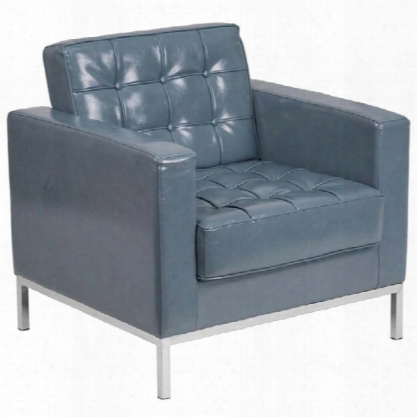 Flash Furniture Lacey Leather Reception Chair In Gray