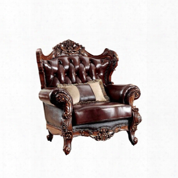 Furniture Of America Veliah Arm Chair In Dark Oak