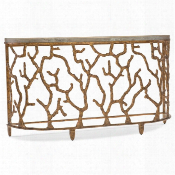 Hooker Furniture Coral Console Table In Gold