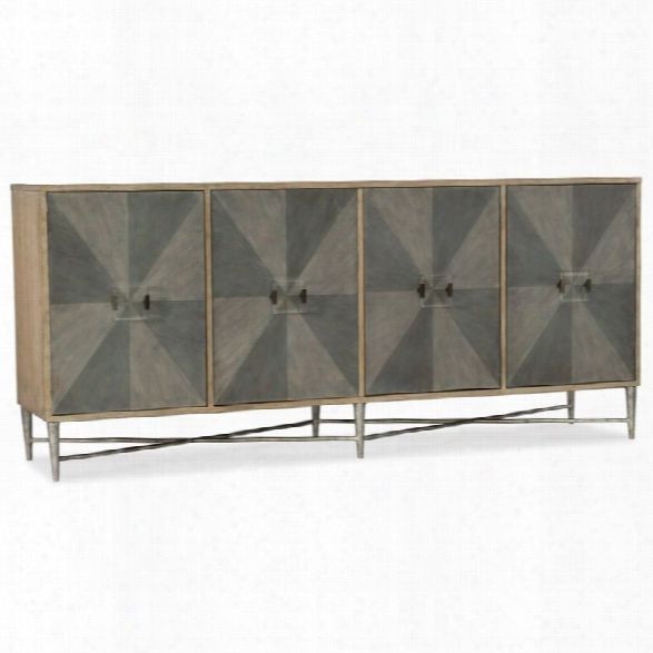 Hooker Furniture Melange Zola 4 Door Console Table In Gray