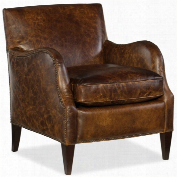 Hooker Furniture Thatcher Leather Club Chair In Irreverent Camel