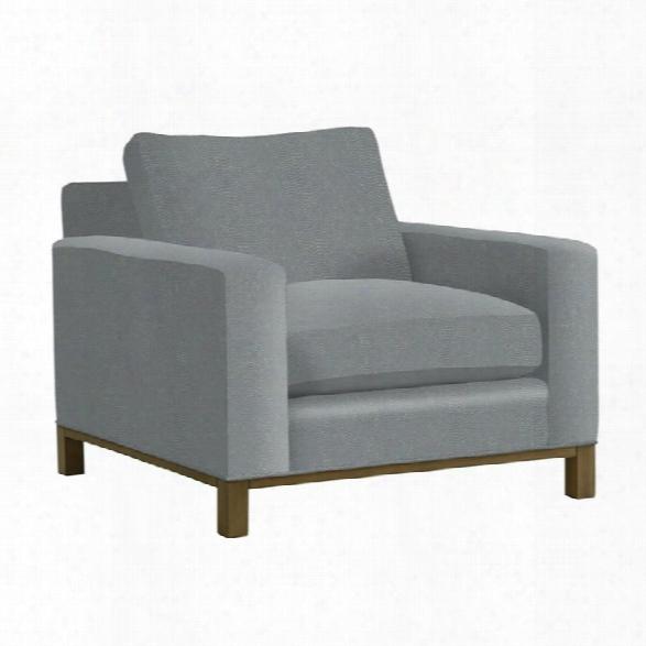 Lexington Shadow Play Chronicle Chair In Textured Plain Blue Aqua
