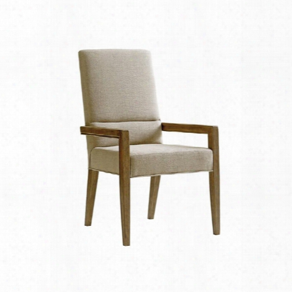 Lexington Shadow Play Metro Accent Arm Chair In Beige