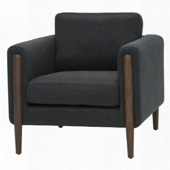 Nuevo Steen Accent Chair In Steel Gray