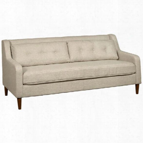 Pulaski Accentrics Home Mid Century Linen Sofa In White