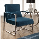 Abbyson Living Eve Stainless Steel Accent Chair in Teal