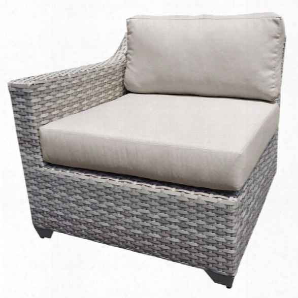 Tkc Fairmont Right Arm Patio Chair In Beige