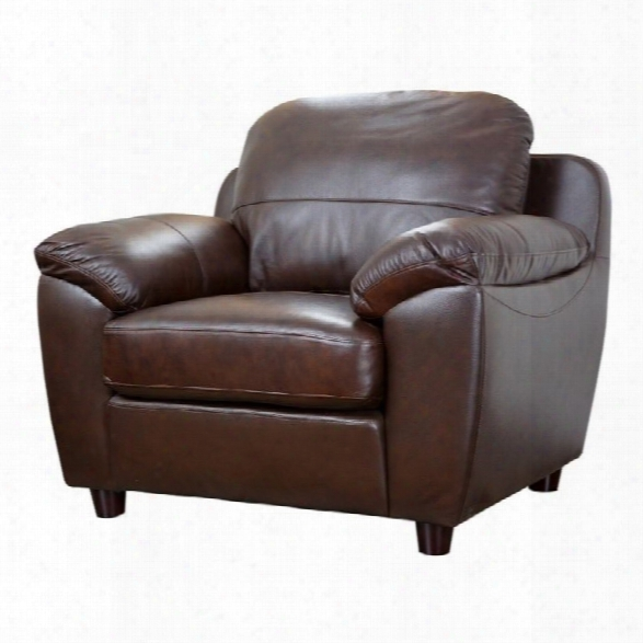 Abbyson Living Bella Leather Arm Chair In Brown