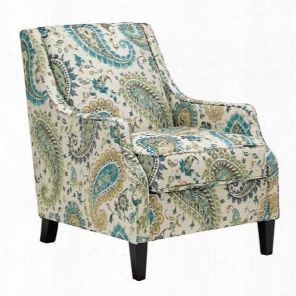 Ashley Lochian Chenille Accent Chair In Jade