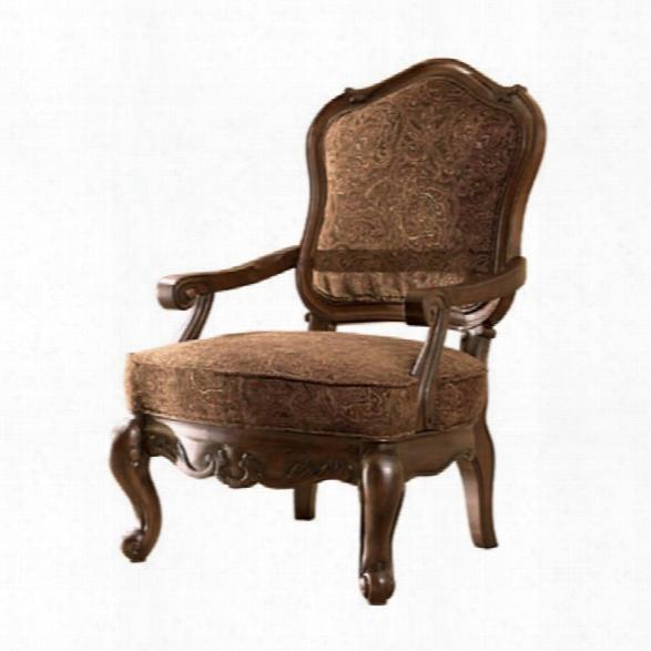 Ashleyn Orth Shore Showood Accent Chair In Dark Brown