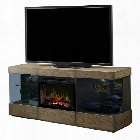 Dimplex Axel Electric Fireplace Tv Stand With Logset In Raked Sand