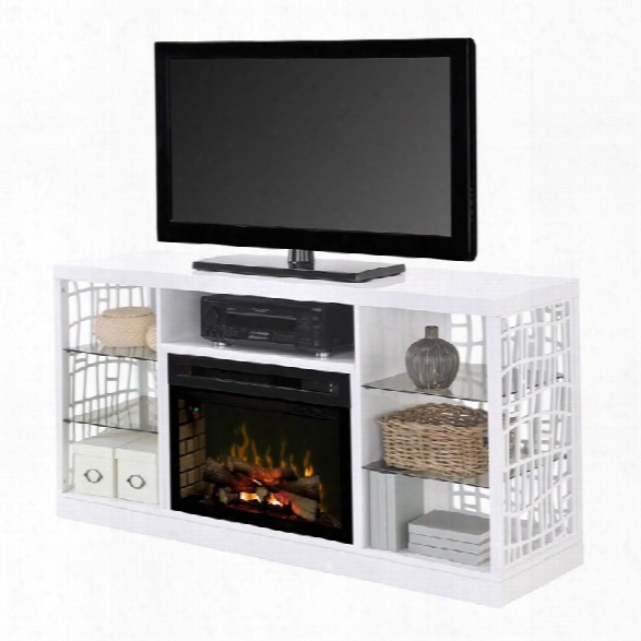 Dimplex Charlotte 25 Fireplace Tv Stand In White