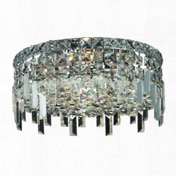 Elegant Lighting Maxime 14 4 Light Spectra Crystal Flush Mount