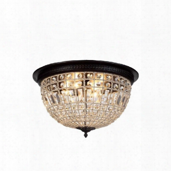 Elegant Lighting Olivia 24 4 Light Royal Crystal Flush Mount