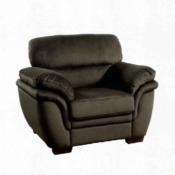 Furniture Of America Ariella Accent Chair In Dark Brown