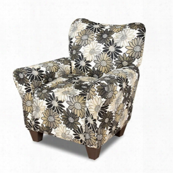 Furniture Of America Helms Fabric Chair In Pewter And Floral Pattern