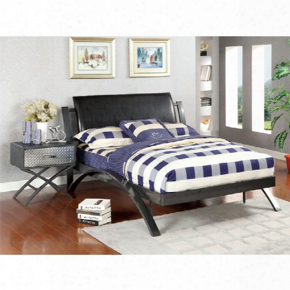 Furniture Of America Whittington 2 Piece Bedroom Set In Gun Metal