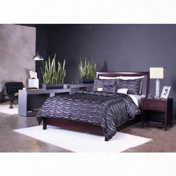 Modus Furniture Nevis Low Profile Bed 2 Piece Bedroom Set In Espresso