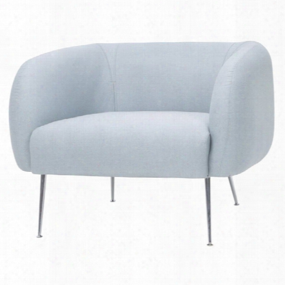 Nuevo Astrid Accent Chair In Caribbean Blue