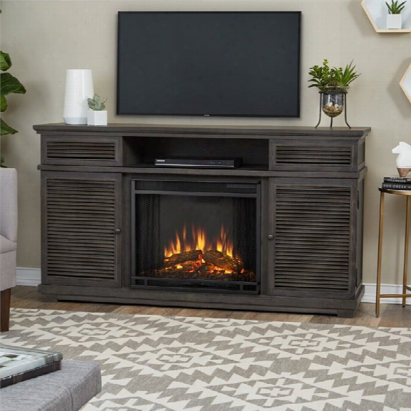 Real Flame Cavallo Fireplace Tv Stand In Gray