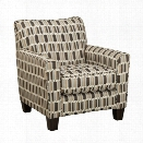 Ashley Janley Fabric Accent Chair in Nugat