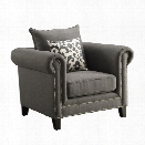 Coaster Emerson Fabric Accent Chair in Gray