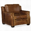 Hooker Furniture Yates Leather Arm Chair in Buckaroo Colt
