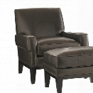 Lexington Carrera Giovanni Leather Accent Chair in Greystone