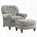 Lexington Oyster Bay Bayville Fabric Arm Chair with Ottoman