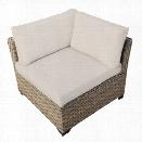 TKC Monterey Outdoor Wicker Corner Chair in Beige (Set of 2)