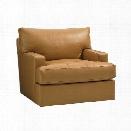 Tommy Bahama Island Fusion Osaka Leather Swivel Chair in Supple Saddle