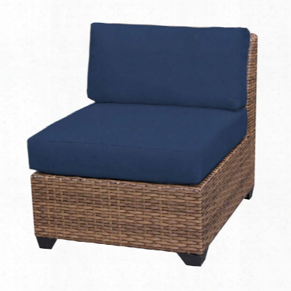 Tkc Laguna Armless Patio Chair In Navy (set Of 2)