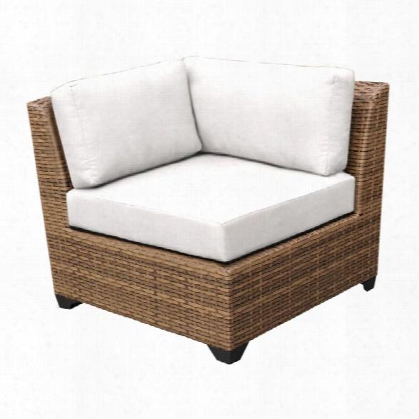 Tkc Laguna Corner Patio Chair In White (set Of 2)